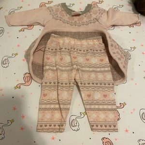 Two piece set pink sweater and pants